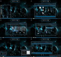 windows 7 theme blue glass (sci fi 2 ) by tono3022