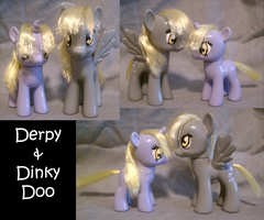 Derpy Hooves/Ditzy Doo and Dinky Doo Customs by JwalsShop