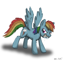 Werepony Rainbow Dash by 9CentsChange