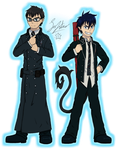 Rin and Yukio (CRITIQUE REQUESTED) by Sofstar