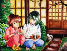 Spirited Away: Eating Onigiri by Pyonni