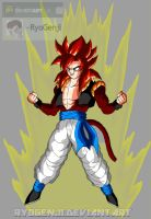 Request: SSJ4 Gogeta for Pikachuvirus1996 by RyoGenji