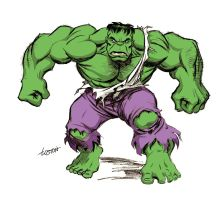 Hulk with Hues by LostonWallace