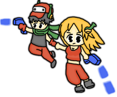 Cave story curly and quote by thegamingdrawer
