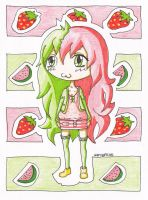 StrawberryWatermelon by IlluminatedOwl