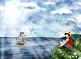 in memory of the flying lamb by Sabakuro