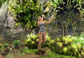 130510_TR_Lara_tries_the_rope by McGaston