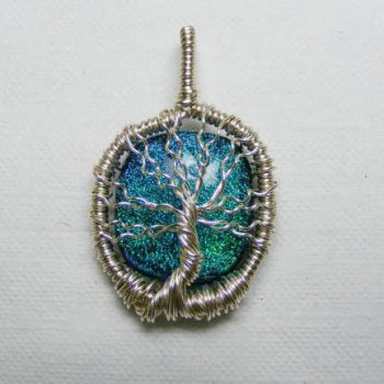 Dichroic Tree of Life Pendant by Create-A-Pendant