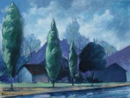 Urban Area oil paint by Boias