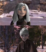 Jack Frost and his sister as guardians by JackFrostOverland