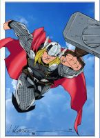 Thor by Calafiore colored by statman71