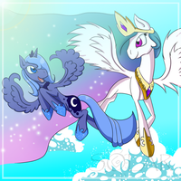 Celestial sisters by SolarPaintDragon