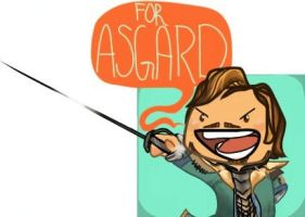 Chibi Fandral-FOR ASGARD! by DevonCoon
