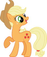 Applejack is Happy by elegantmisreader