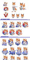 Taekwondo Fox Mascot Design Process by Zombiesmile