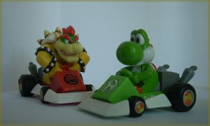 Bowser And Yoshi Kart by ras-blackfire