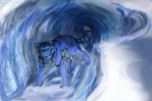 Blue Caves and Tigers by SilverlightRaynn