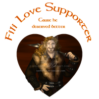 Shirt Design:The Hobbit: Fili Love Supporter by wolfanita
