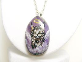 Maine Coon Cat Pendant Necklace by sobeyondthis