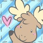 Cutest Moose by crayon-chewer