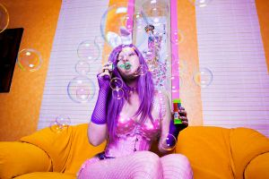 bunny girl's bubbles by kittychamallow