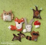 Woodland creatures by merwing