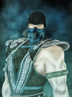 Sub zero : ready for battle by skullfrankie