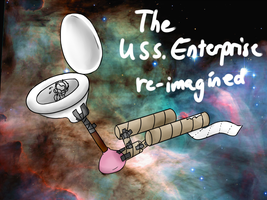 The USS Enterprise re-imagined by fu-tatsu