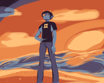 Sollux On The Beach By The Sunset by canidaeTrot