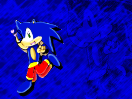 Sonic x3 Wall version by Joellinathedog