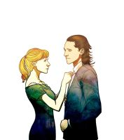 PepperxLoki: Suit and Tie by Art-Gem
