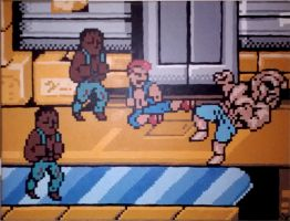 The Abobo Boss Fight by Squarepainter