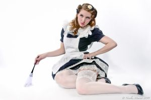 Pin Up by Nicolas Meunier - Maid by NellaFragola