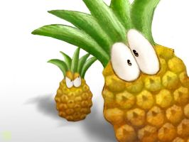 Two little pineapples by ftourini