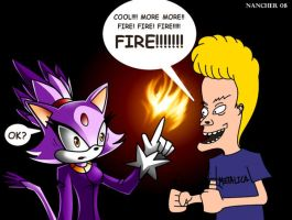 Blaze the cat have a fanboy by tramneo