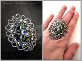 Wirewrapped 'Star' ring by Faeriedivine