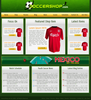 Layout: Soccershop by sunlessdesign