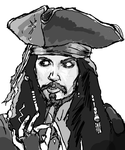 Captain Jack Sparrow Sketch by Chrisily