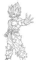 SSJGoku Xenoverse Cover Lineart by EymSmiley