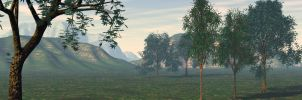 Panorama from samurai scene by artgent