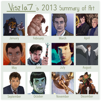 2013 Art Summary by Viszla7