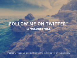 Follow Me on Twitter! by frozencolor