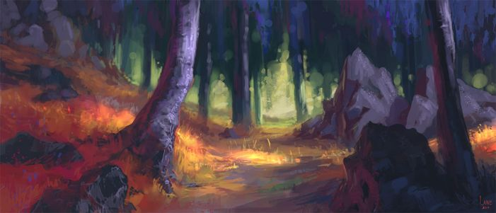 Woodsong Forest by Wildweasel339