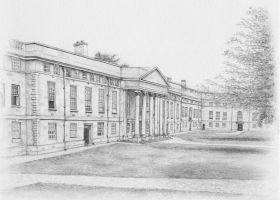 Downing College in pencils by arhicks