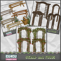 Arbors and Pic Nic Tables by ZaZaScrapAndTubes