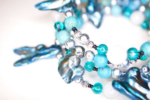 OOAK Mermaid Style Bracelet on ETSY by WanderingMogwai