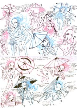 Designs Umbrella ghost Lady by windflame