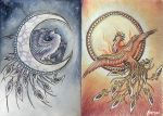 Guardians of Day and Night by Saraais