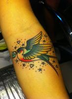 Traditional Swallow from Alex Roze by HammersmithTattoo