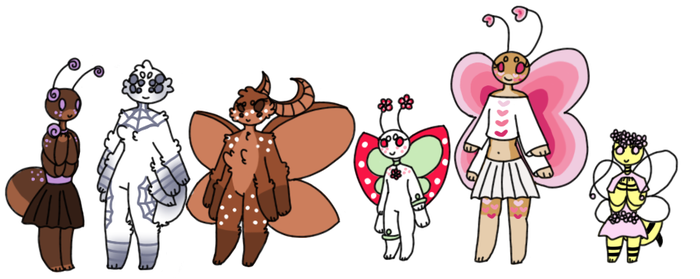 Anthro customs for summerwaifu by Sweetnfluffy-adopts